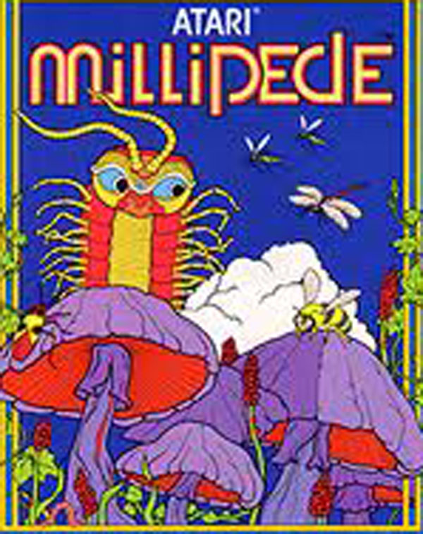 Millipede (video Game) Video Game Back Title by WonderClub