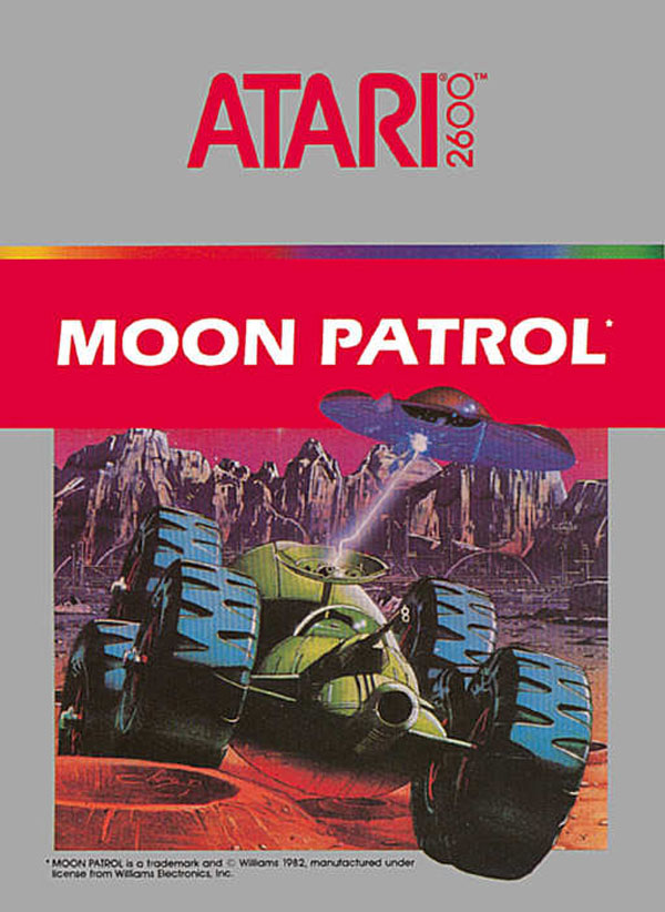 Moon Patrol Video Game Back Title by WonderClub
