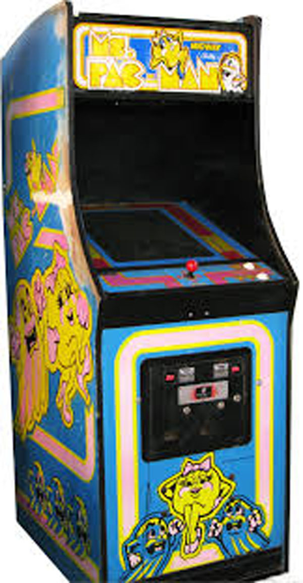 Ms. Pac-Man Video Game Back Title by WonderClub