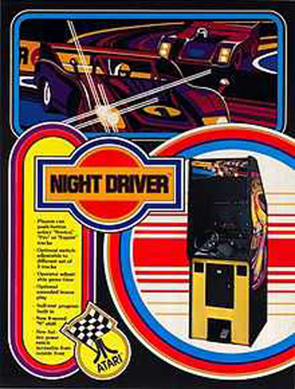 Night Driver Video Game Back Title by WonderClub