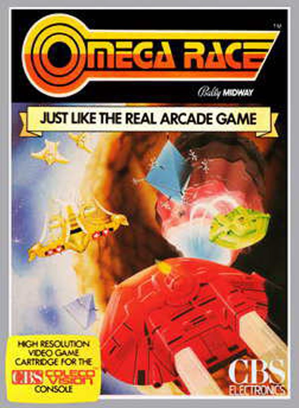 Omega Race Video Game Back Title by WonderClub