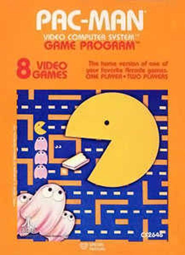 Pac-Man (Atari 2600) Video Game Back Title by WonderClub
