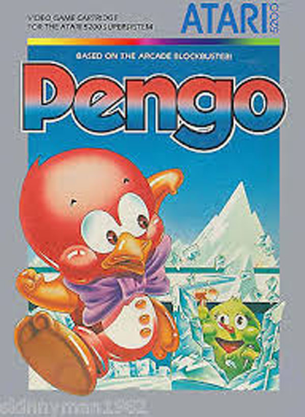 Pengo (video Game) Video Game Back Title by WonderClub