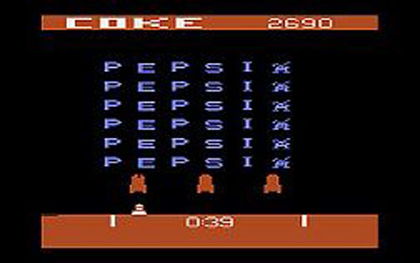 Pepsi Invaders Video Game Back Title by WonderClub