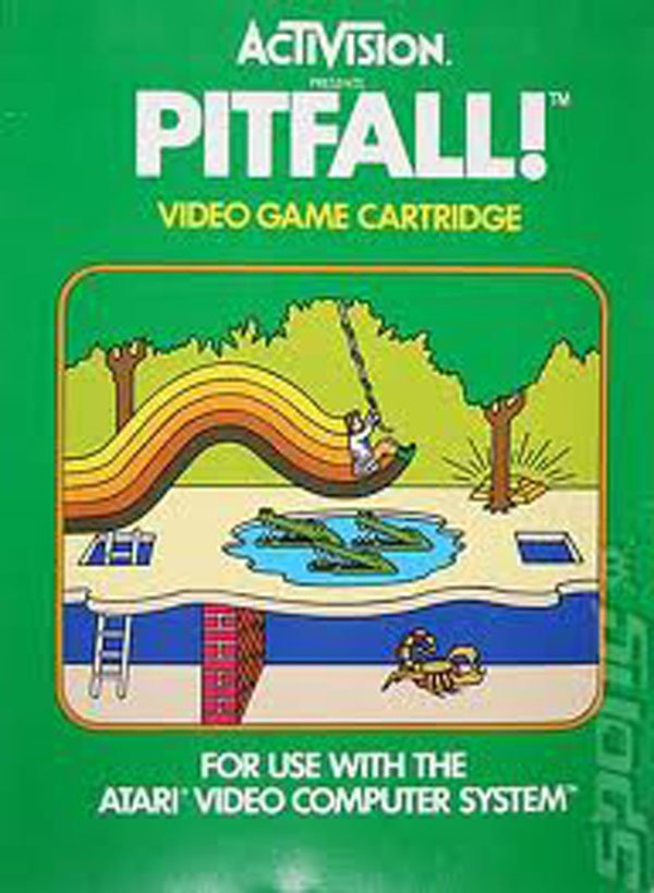 Pitfall! Video Game Back Title by WonderClub