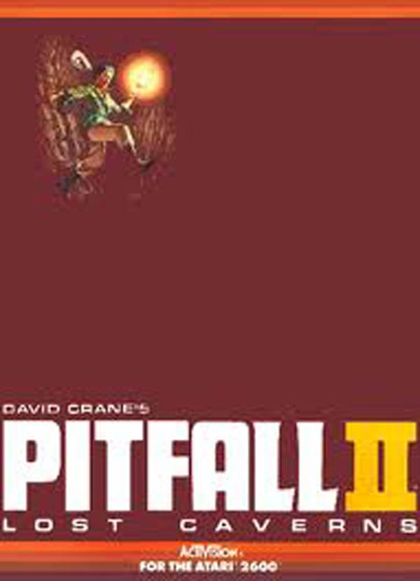 Pitfall II: Lost Caverns Video Game Back Title by WonderClub
