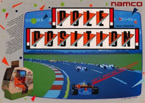 Pole Position (video Game) Video Game Back Title by WonderClub