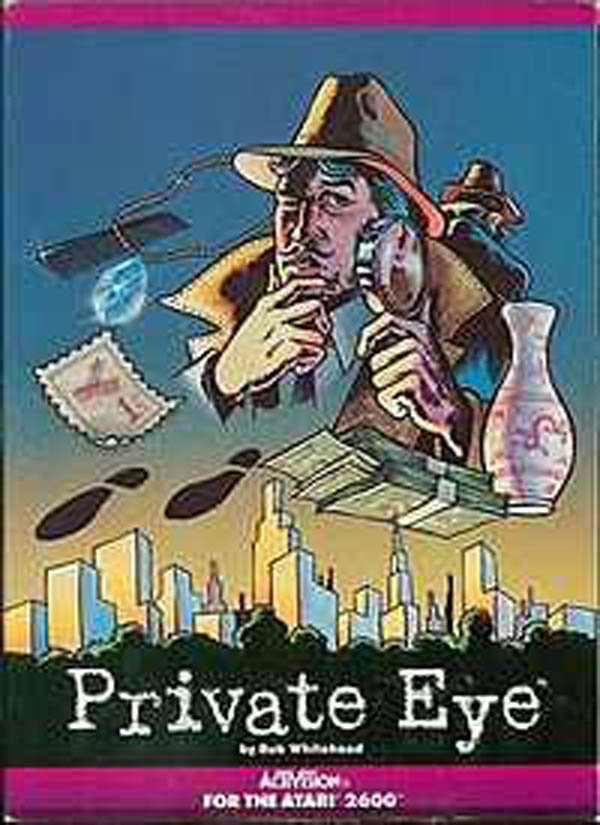 Private Eye (Atari 2600 Video Game) Video Game Back Title by WonderClub