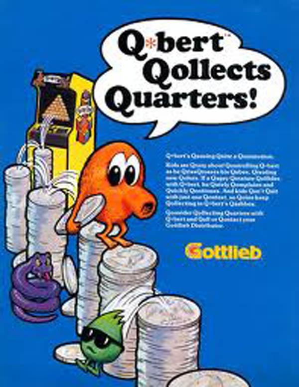Q*bert Video Game Back Title by WonderClub