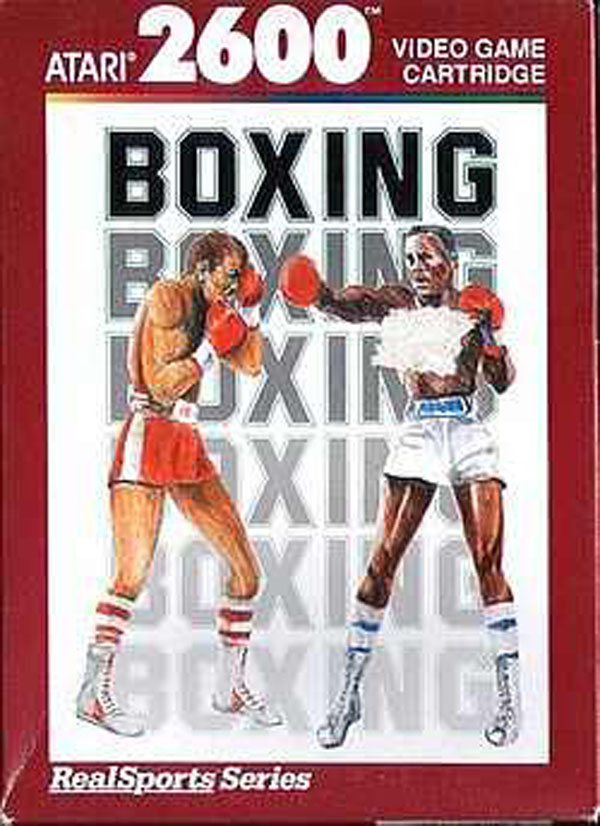 RealSports Boxing Video Game Back Title by WonderClub