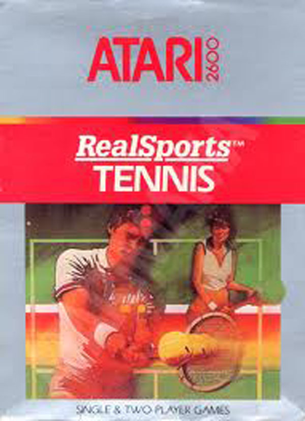 RealSports Tennis Video Game Back Title by WonderClub