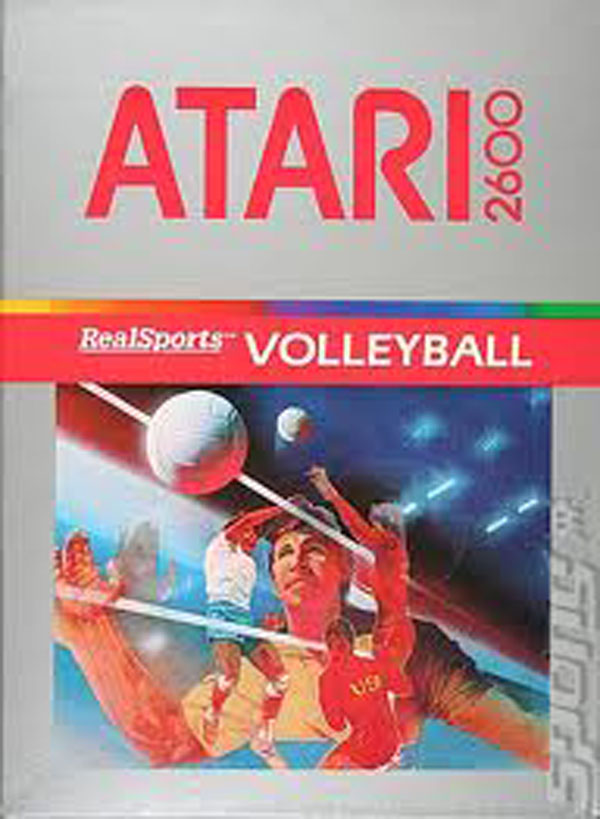 RealSports Volleyball Video Game Back Title by WonderClub