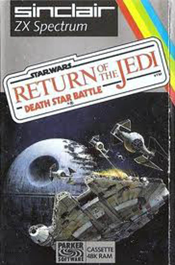 Return Of The Jedi: Death Star Battle Video Game Back Title by WonderClub