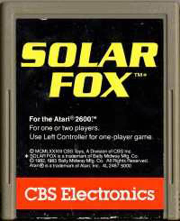 Solar Fox Video Game Back Title by WonderClub