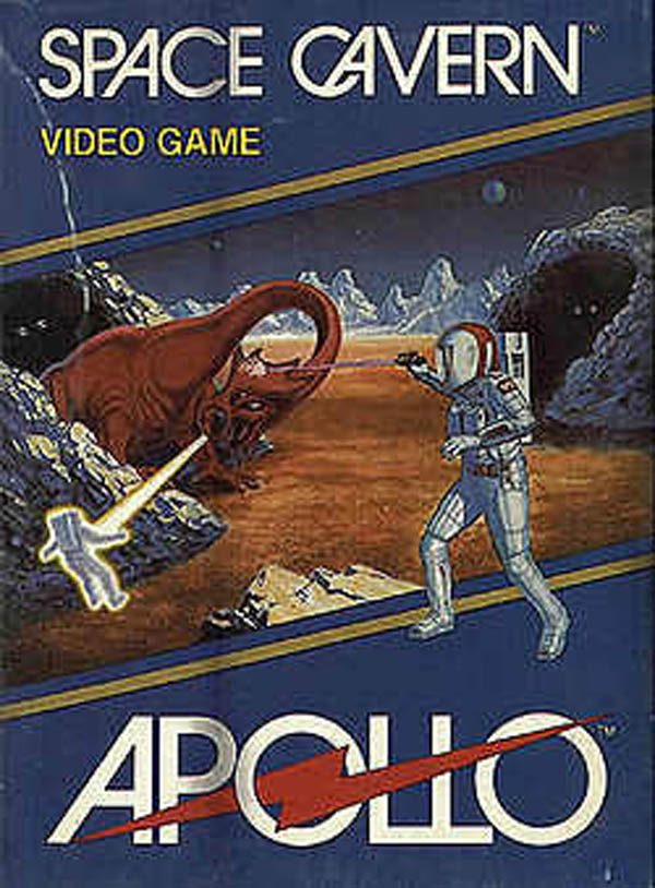 Space Cavern Video Game Back Title by WonderClub