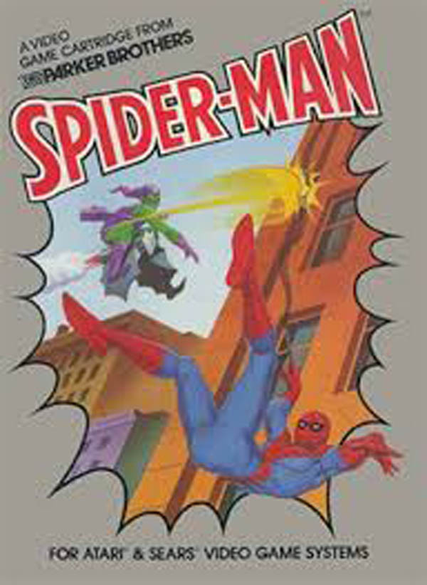 Spider-Man (Atari 2600 Video Game) Video Game Back Title by WonderClub