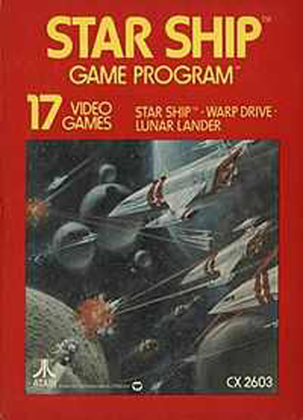 Star Ship Video Game Back Title by WonderClub
