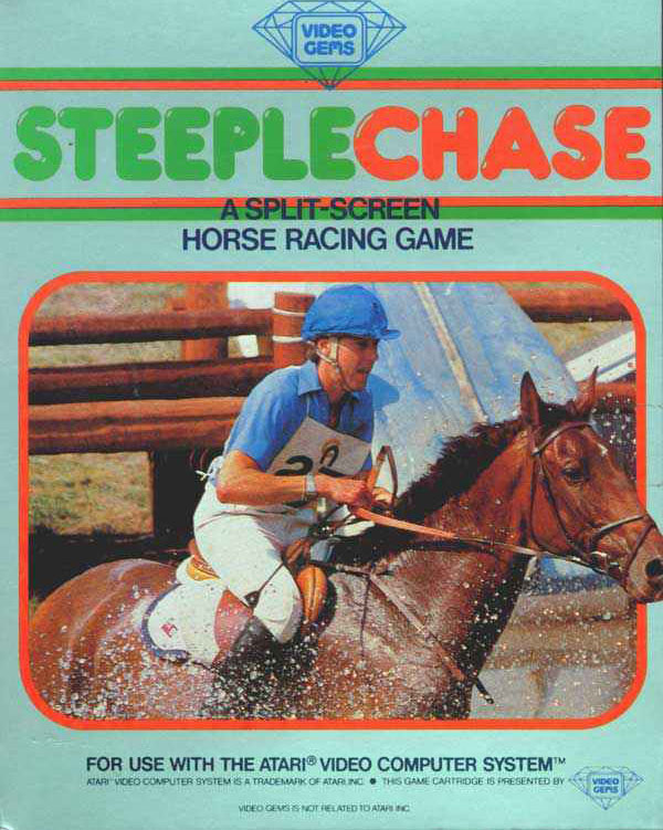 Steeplechase Video Game Back Title by WonderClub