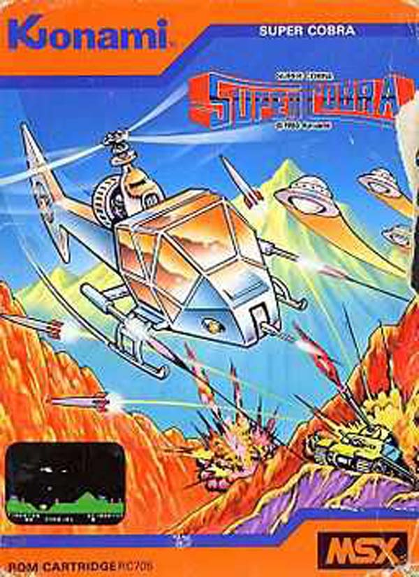 Super Cobra Video Game Back Title by WonderClub