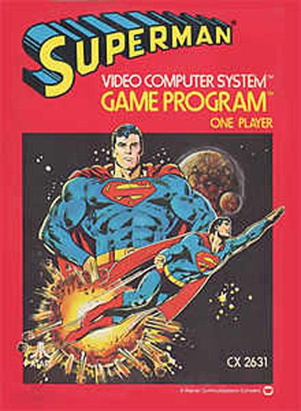 Superman (Atari 2600 Video Game) Video Game Back Title by WonderClub