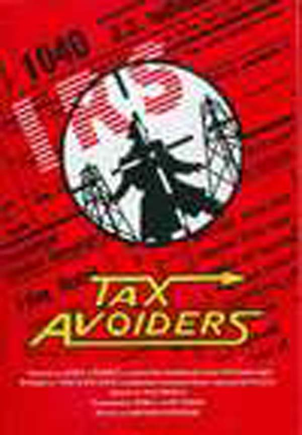 Tax Avoiders Video Game Back Title by WonderClub