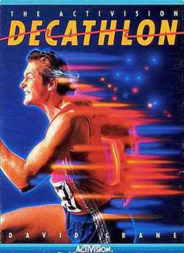 The Activision Decathlon Video Game Back Title by WonderClub
