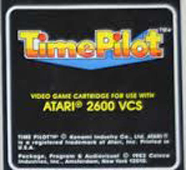 Time Pilot Video Game Back Title by WonderClub