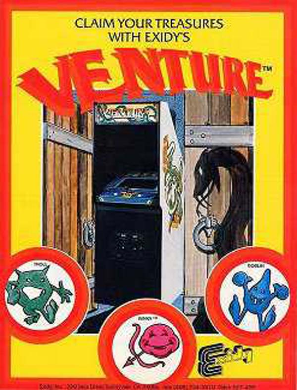 Venture (video Game) Video Game Back Title by WonderClub