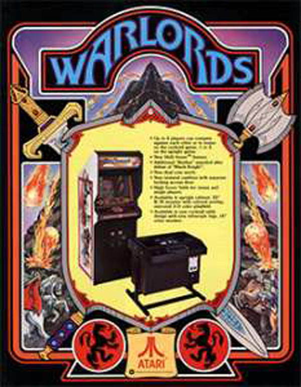 Warlords (1980 Video Game) Video Game Back Title by WonderClub