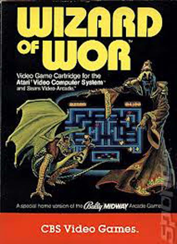 Wizard Of Wor Video Game Back Title by WonderClub
