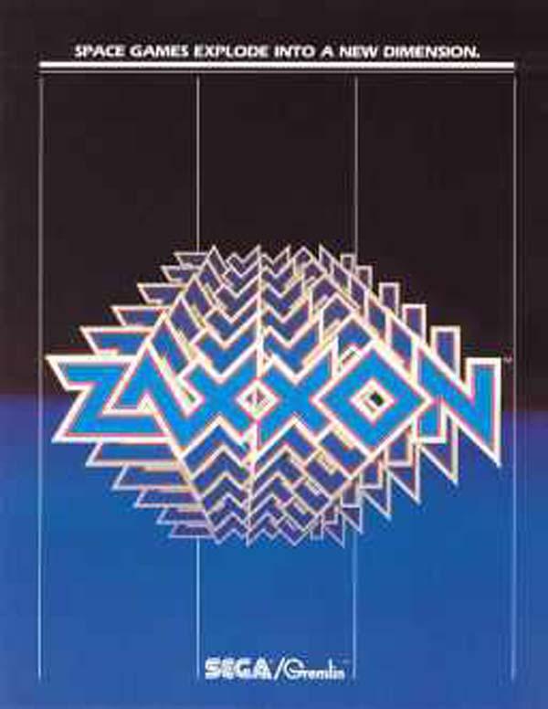 Zaxxon Video Game Back Title by WonderClub