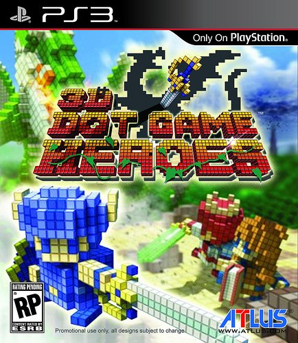 3D Dot Game Heroes Video Game Back Title by WonderClub