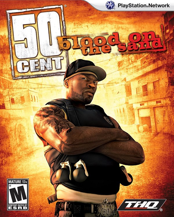 50 Cent: Blood on the Sand Video Game Back Title by WonderClub