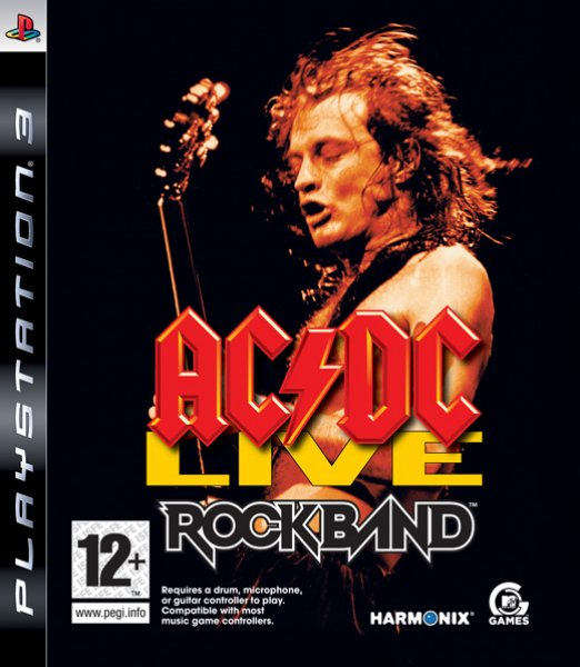 AC/DC Live: Rock Band Track Pack Video Game Back Title by WonderClub