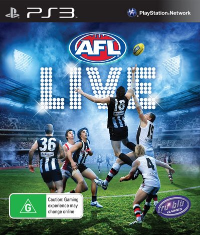 AFL Live Video Game Back Title by WonderClub
