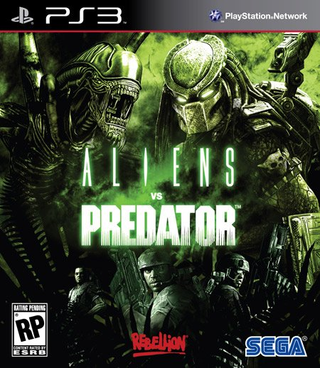 Aliens Vs. Predator Video Game Back Title by WonderClub