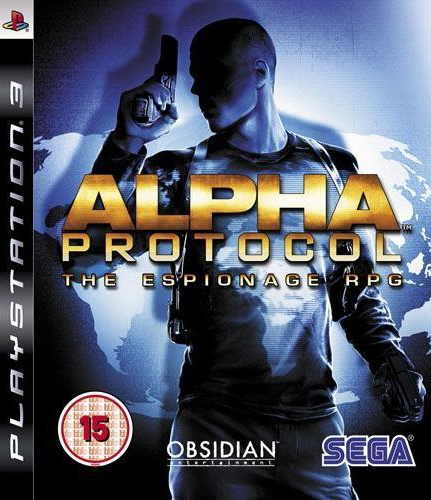 Alpha Protocol Video Game Back Title by WonderClub