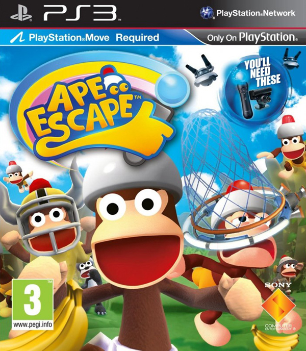 Ape Escape Video Game Back Title by WonderClub