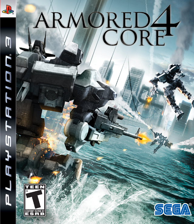 Armored Core 4 Video Game Back Title by WonderClub