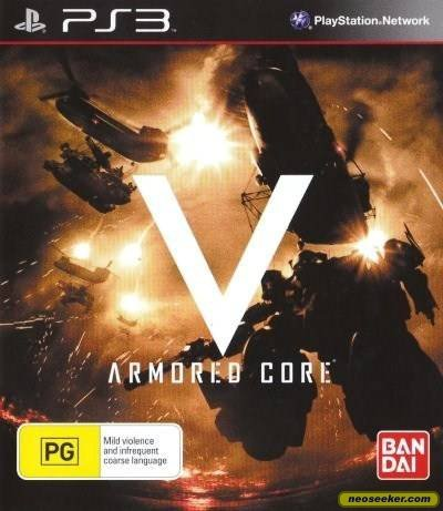 Armored Core V Video Game Back Title by WonderClub