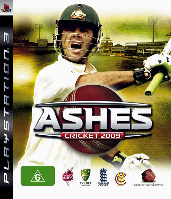 Ashes Cricket 2009 Video Game Back Title by WonderClub
