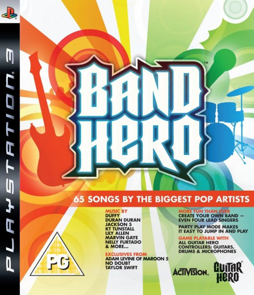 Band Hero Video Game Back Title by WonderClub