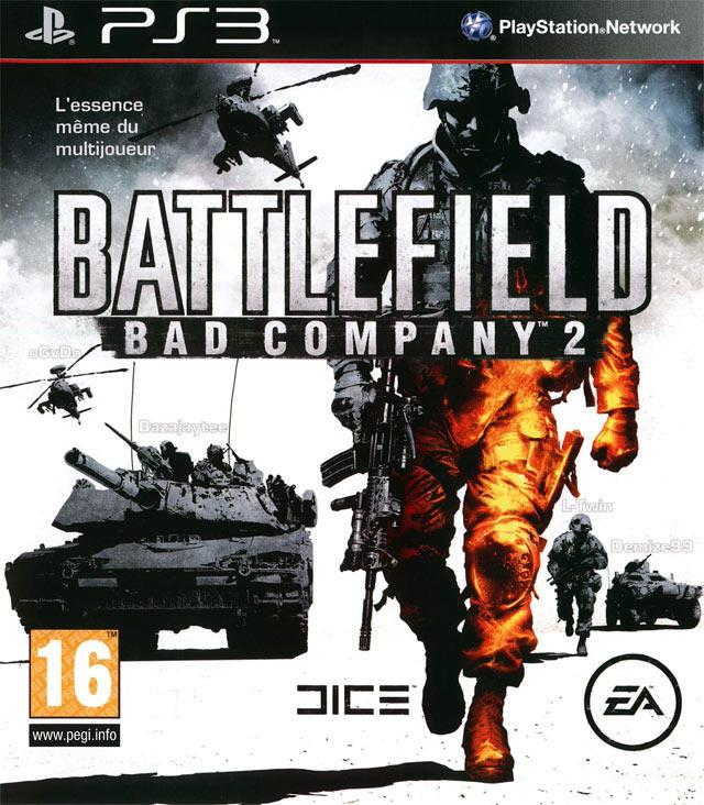 Battlefield: Bad Company 2 Video Game Back Title by WonderClub