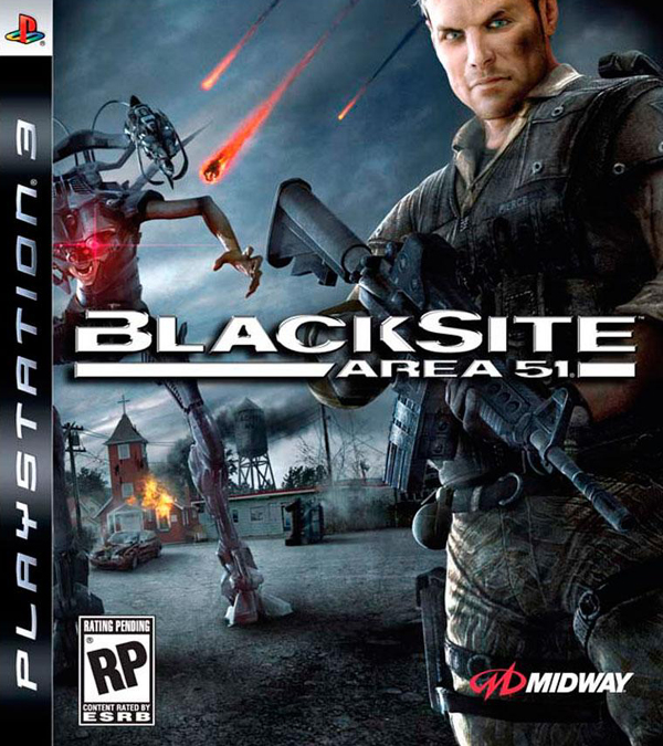 BlackSite: Area 51 Video Game Back Title by WonderClub