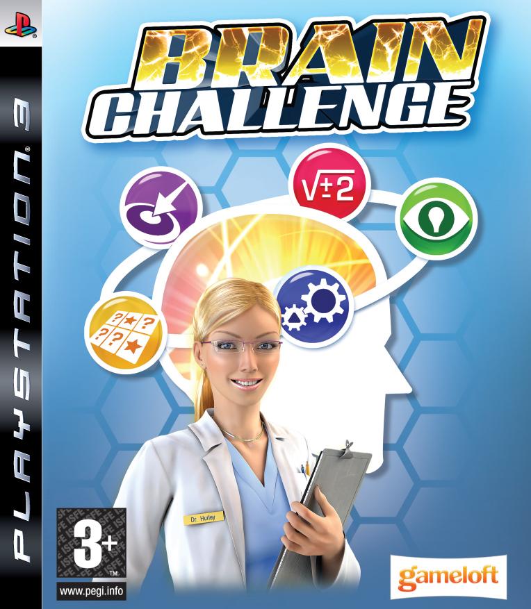 Brain Challenge Video Game Back Title by WonderClub
