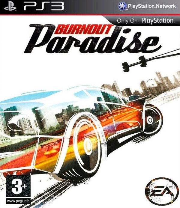 Burnout Paradise Video Game Back Title by WonderClub