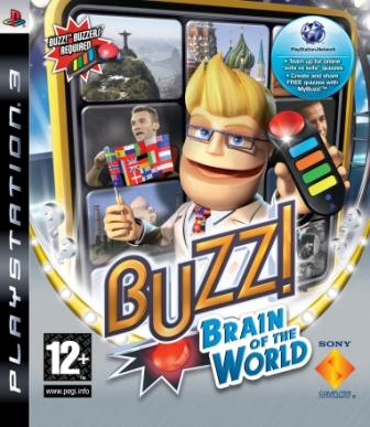 Buzz!: Brain Of The World Video Game Back Title by WonderClub