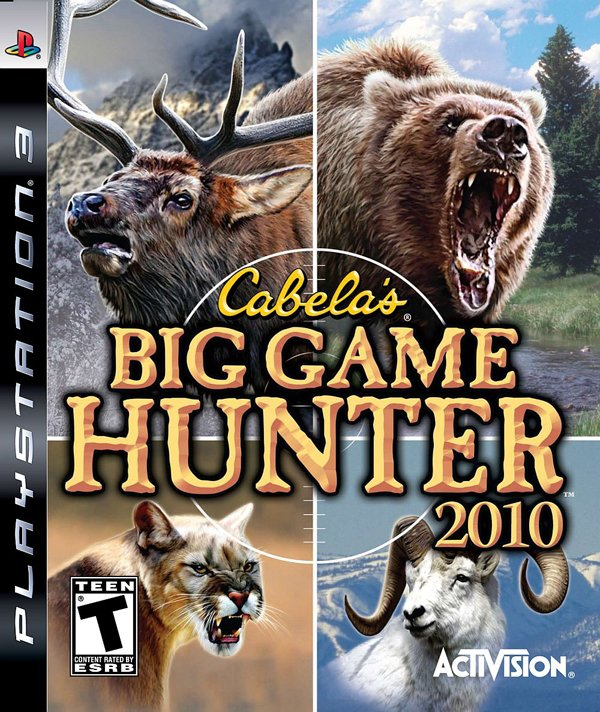Cabela's Big Game Hunter 2010 Video Game Back Title by WonderClub