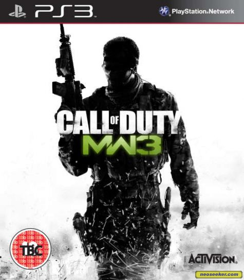 Call Of Duty: Modern Warfare 3 Video Game Back Title by WonderClub