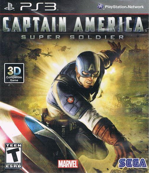 Captain America: Super Soldier Video Game Back Title by WonderClub